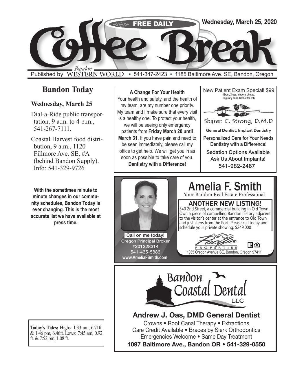 March 25, 2020 Coffee Break