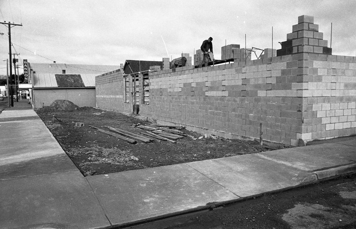 Rebuilding McNair Hardware, March 1975