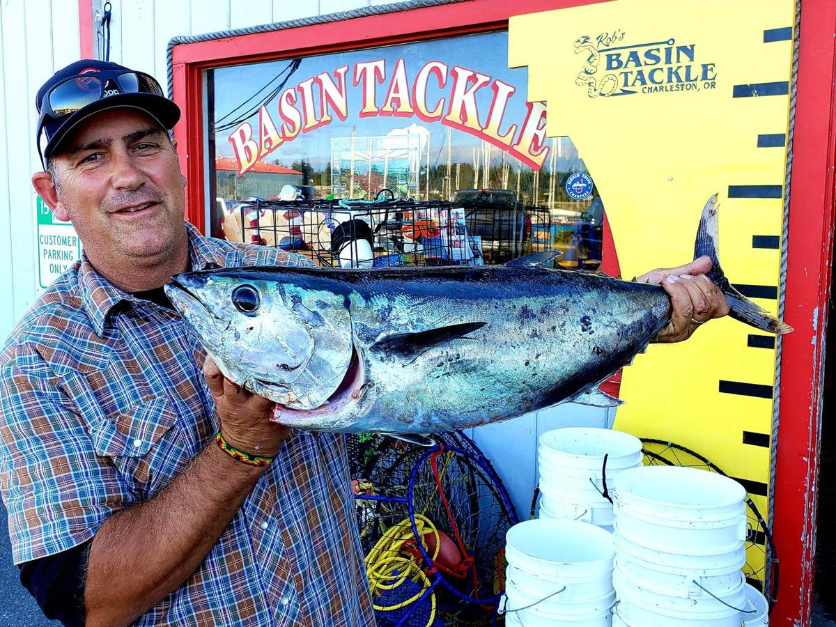 Bluefin tuna catch recently made from Chinook Charters out of Charleston