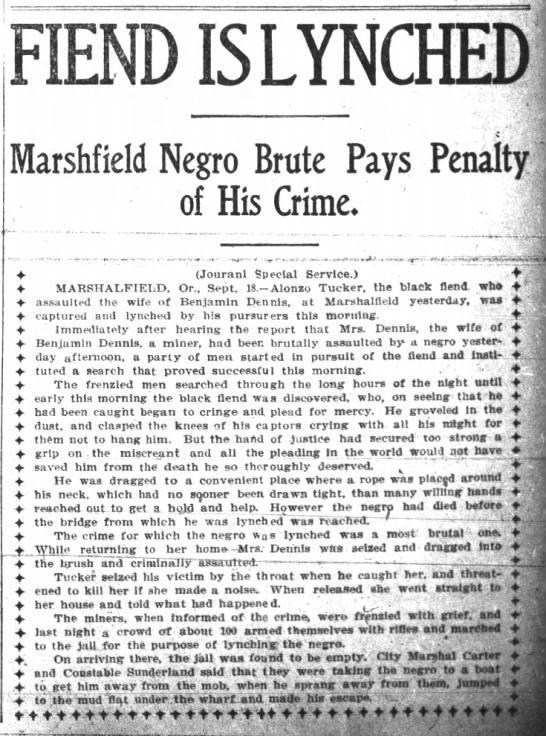 Lynching in Marshfield