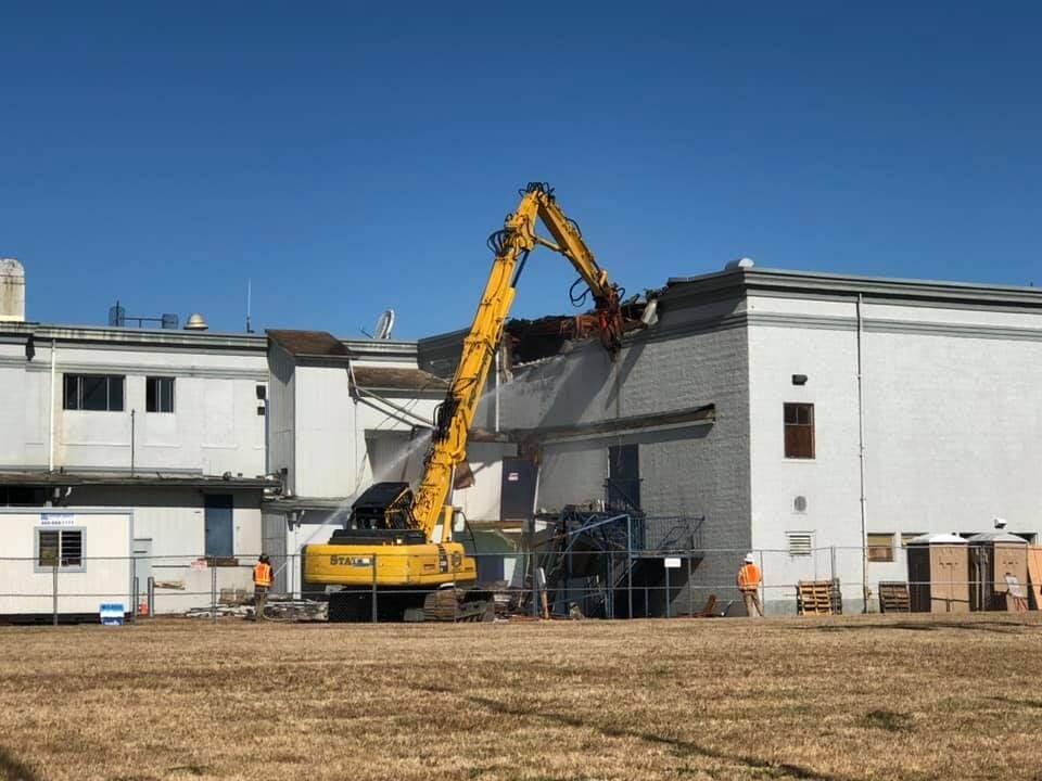Myrtle Point High School demolition