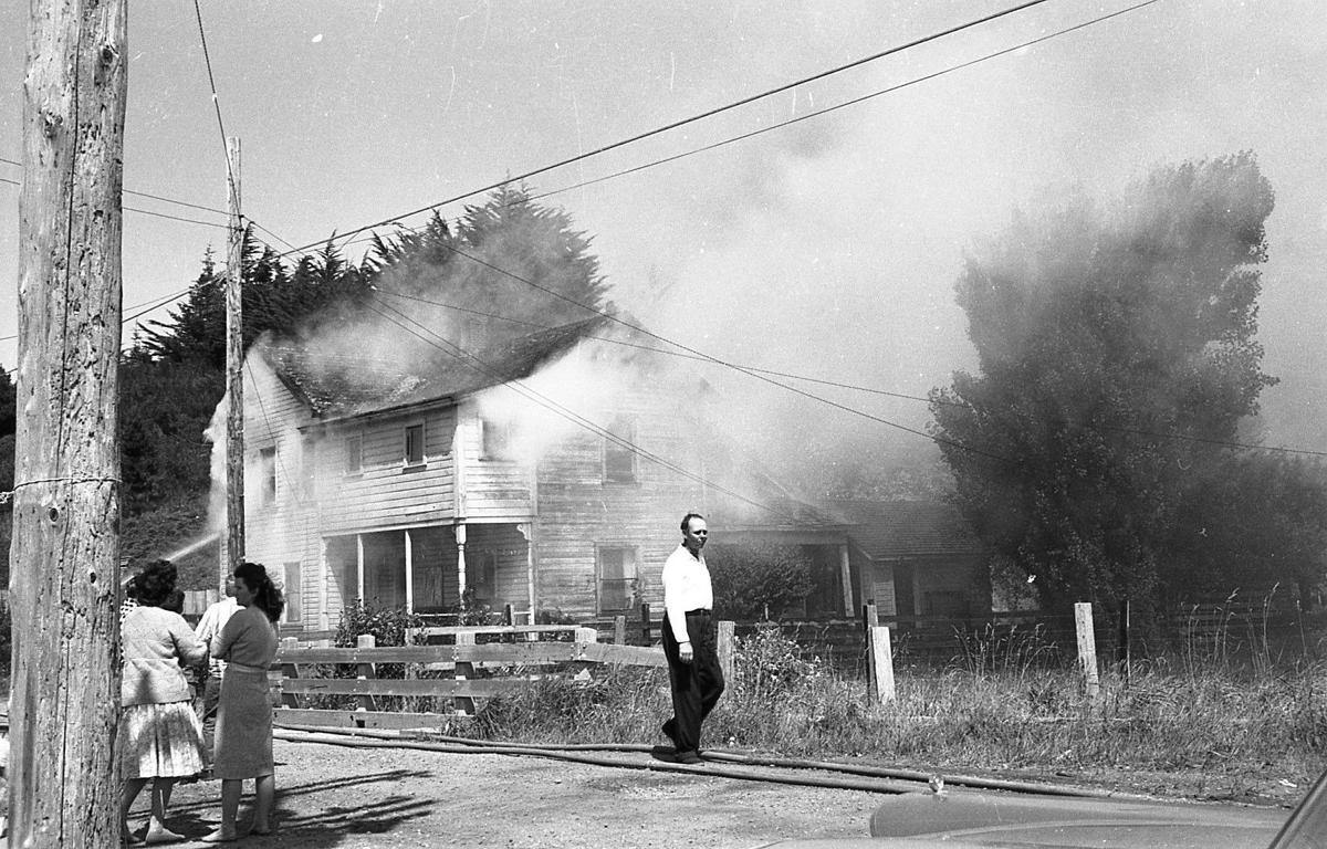 Coats fire 1962 along Creek Street
