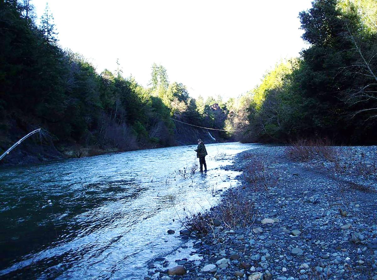 Eric Wallin, fishing South Fork Coquille