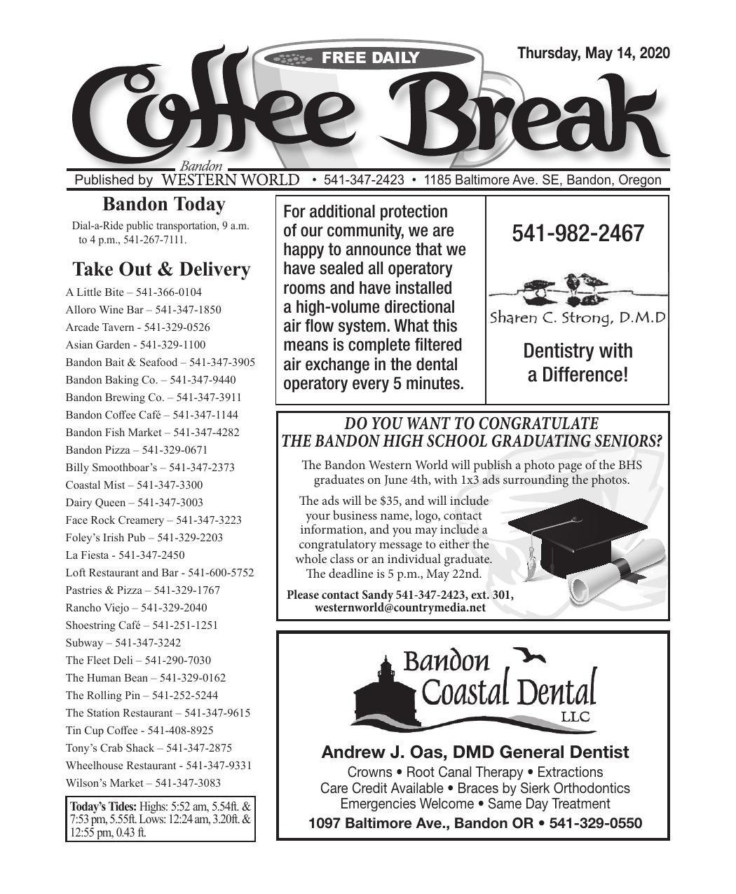 May 14, 2020 Coffee Break