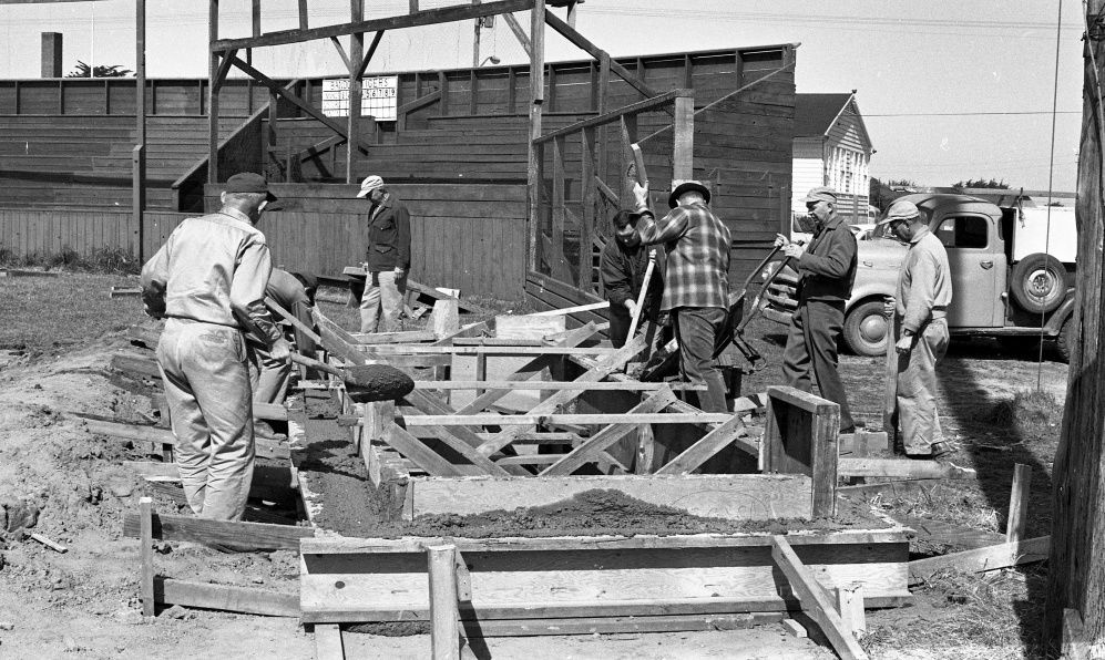 Building new dugouts, 1965