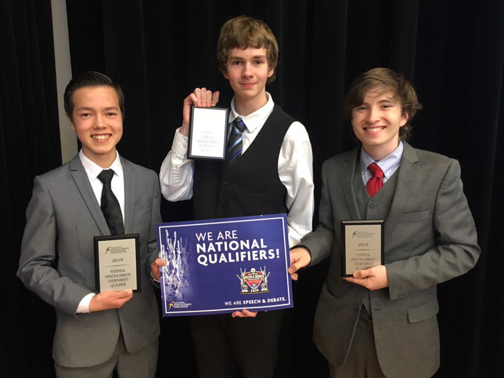 BHS Speech Team national qualifiers