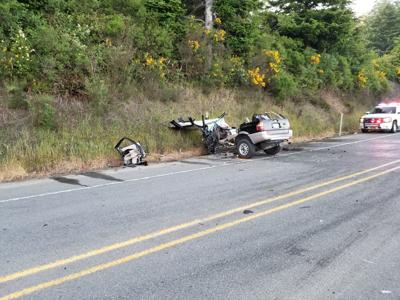 Crash on Highway 42