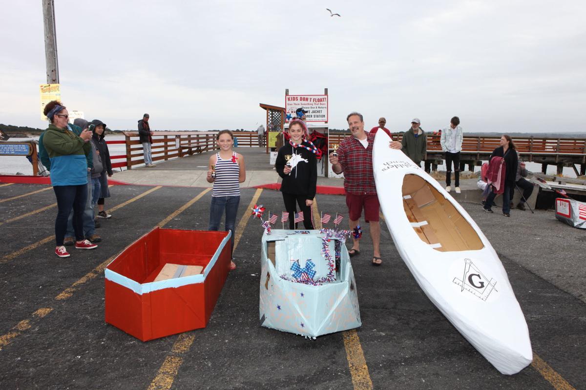 Port of Bandon Cardboard Boat Regatta winners