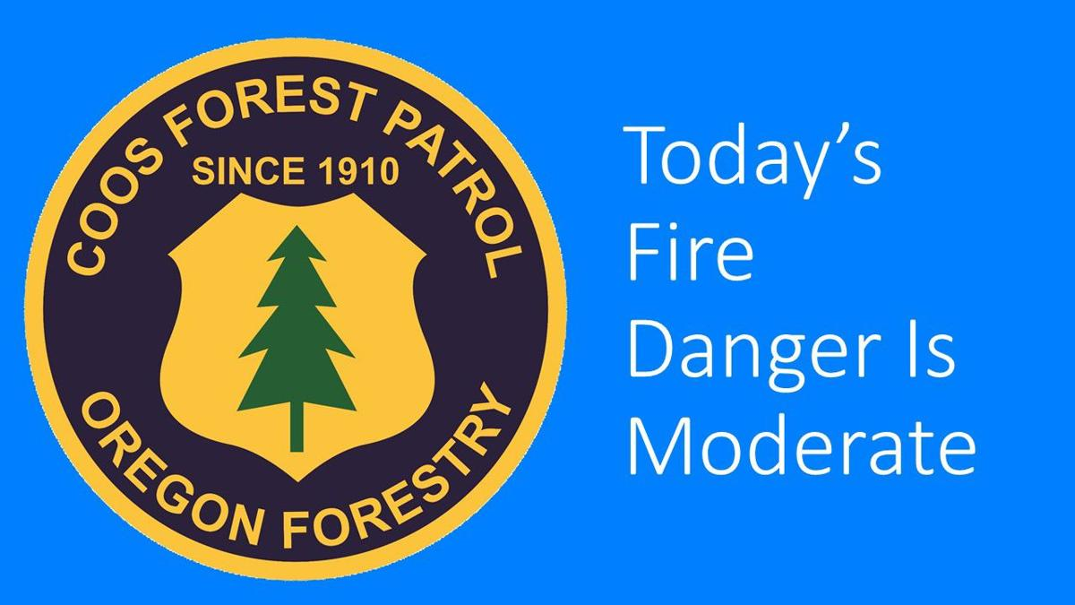 Fire danger is moderate