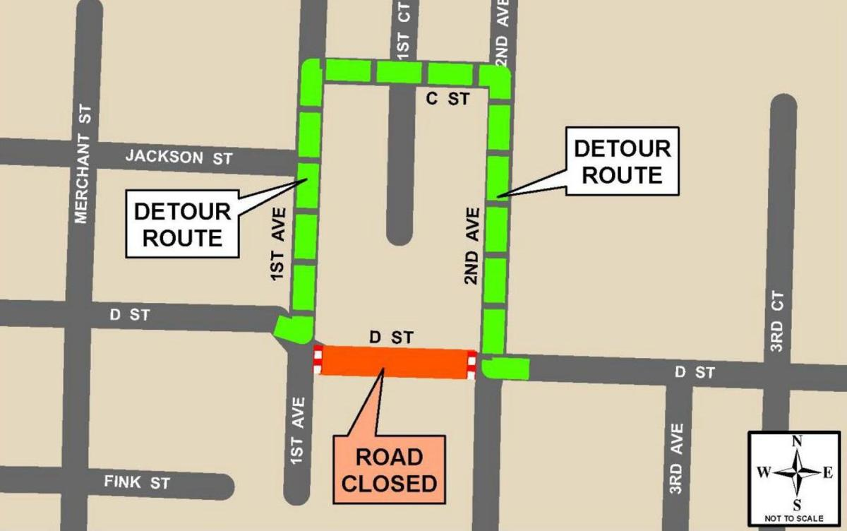 Eastside Street Closure MAP
