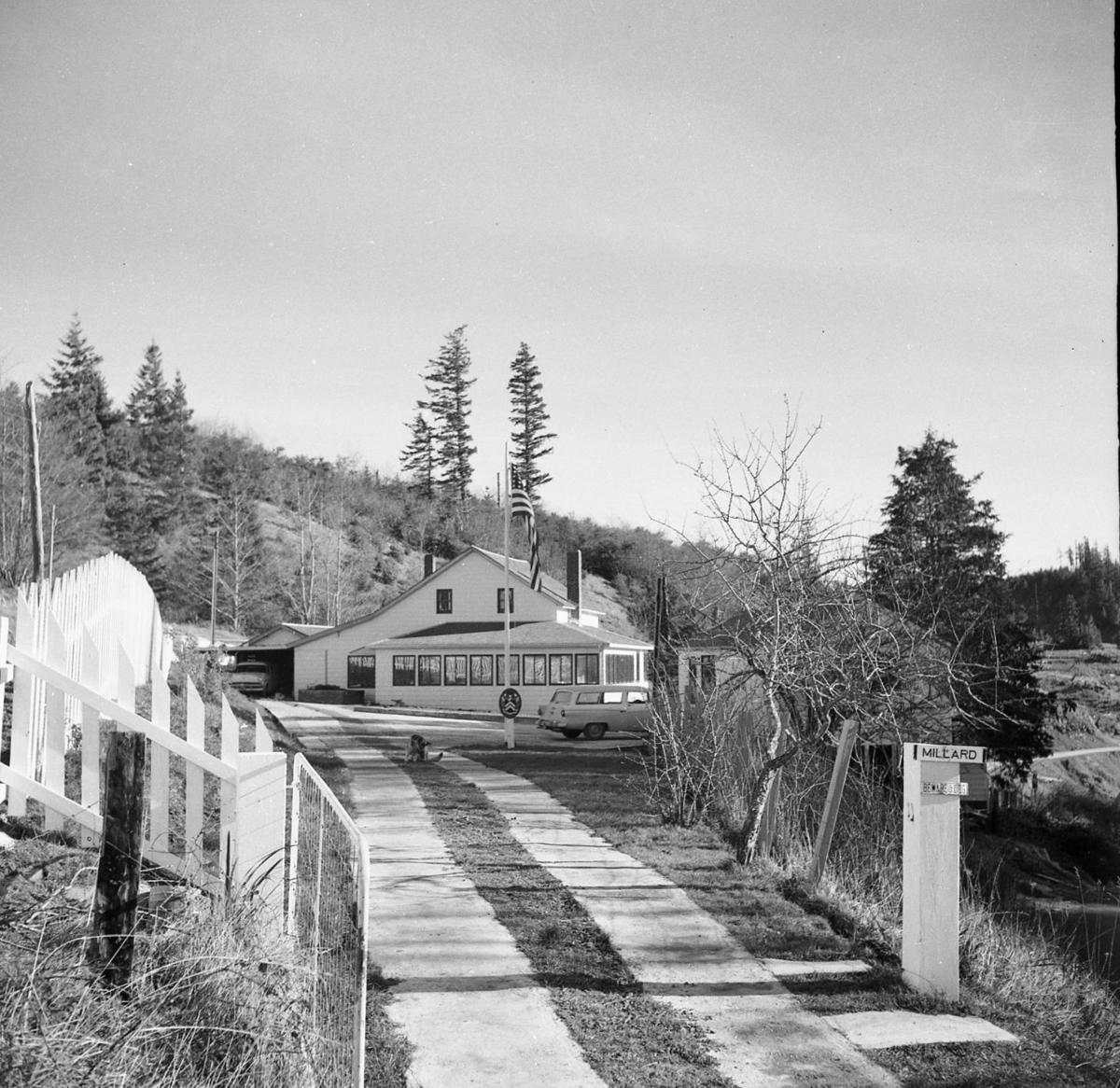 Millard School on Langlois Mt., probably taken in the 1950s