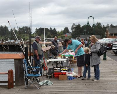 Marine Swap Meet on the Port of Bandon's boardwalk
