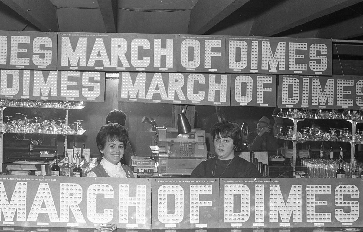 March of Dimes fundraiser, Pastime Tavern, Feb. 1970