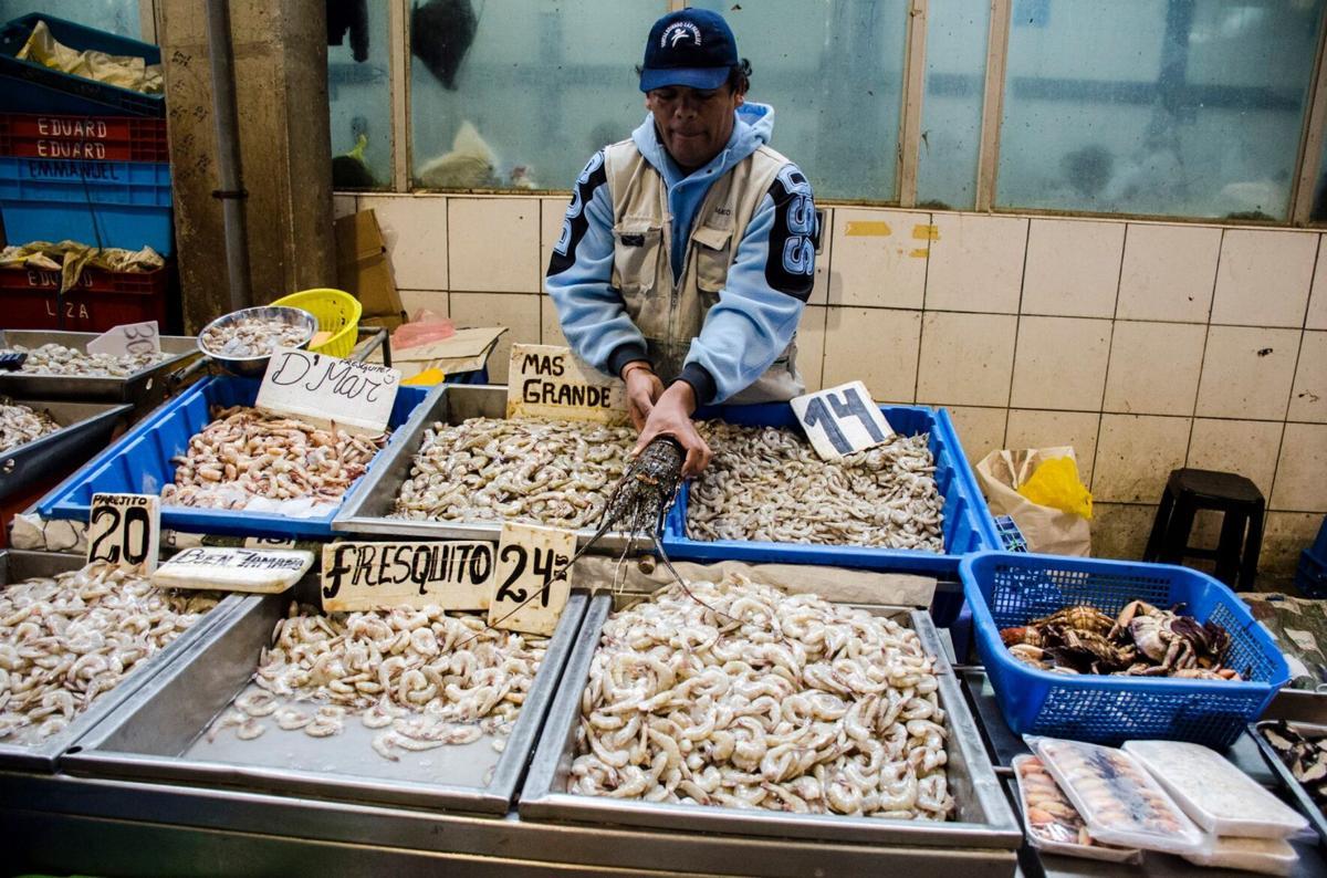 Fish market, Peru