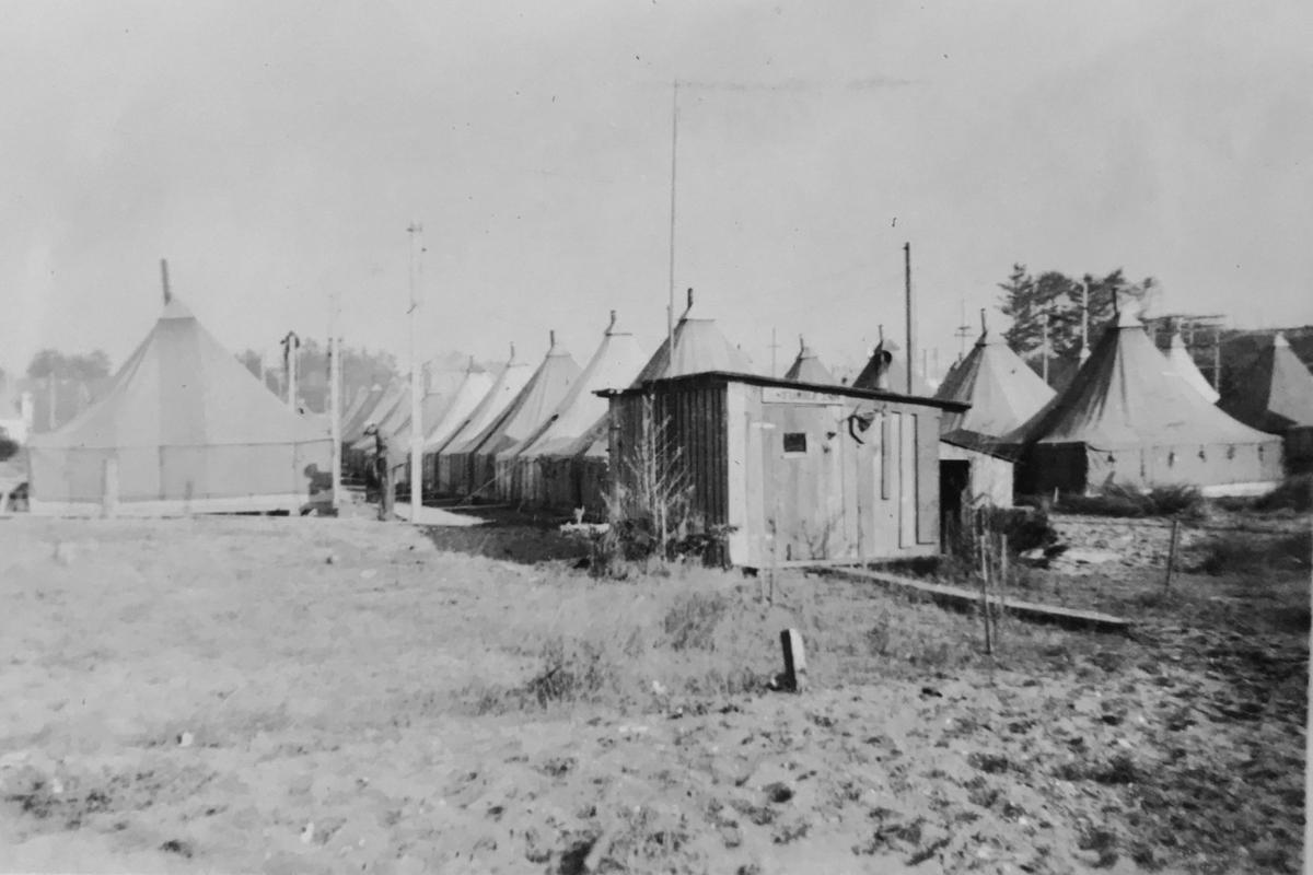 Tent City following Bandon Fire, 1936