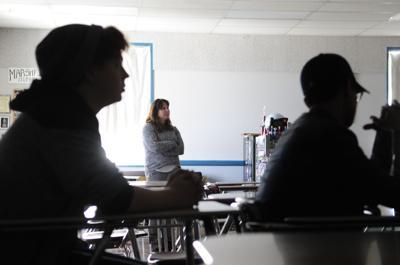 Students attend class at Marshfield High School
