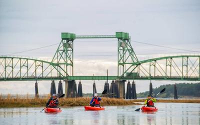 The Coquille River Water Trail under Bullards Bridge (copy)