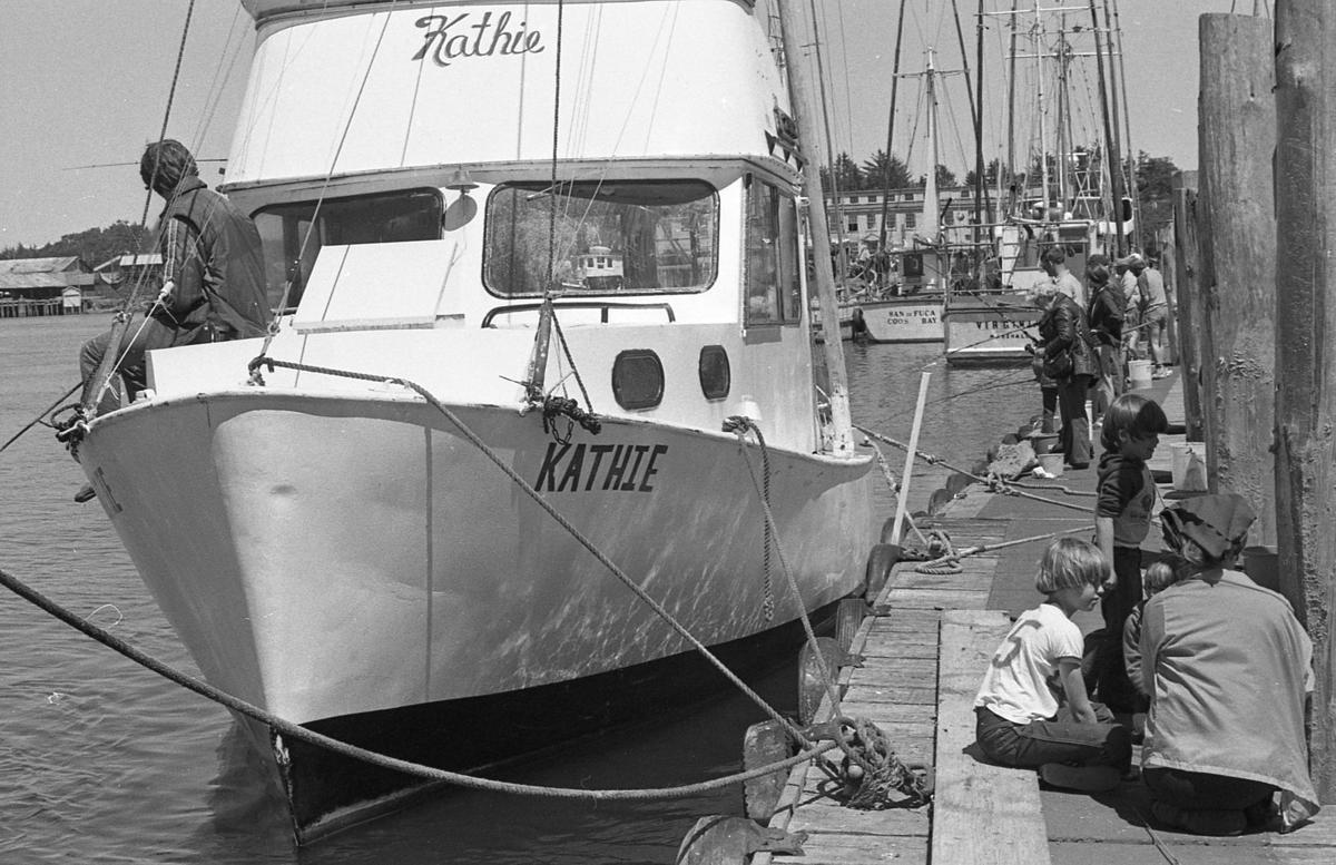 Port of Bandon fishing docks, Aug. 1981