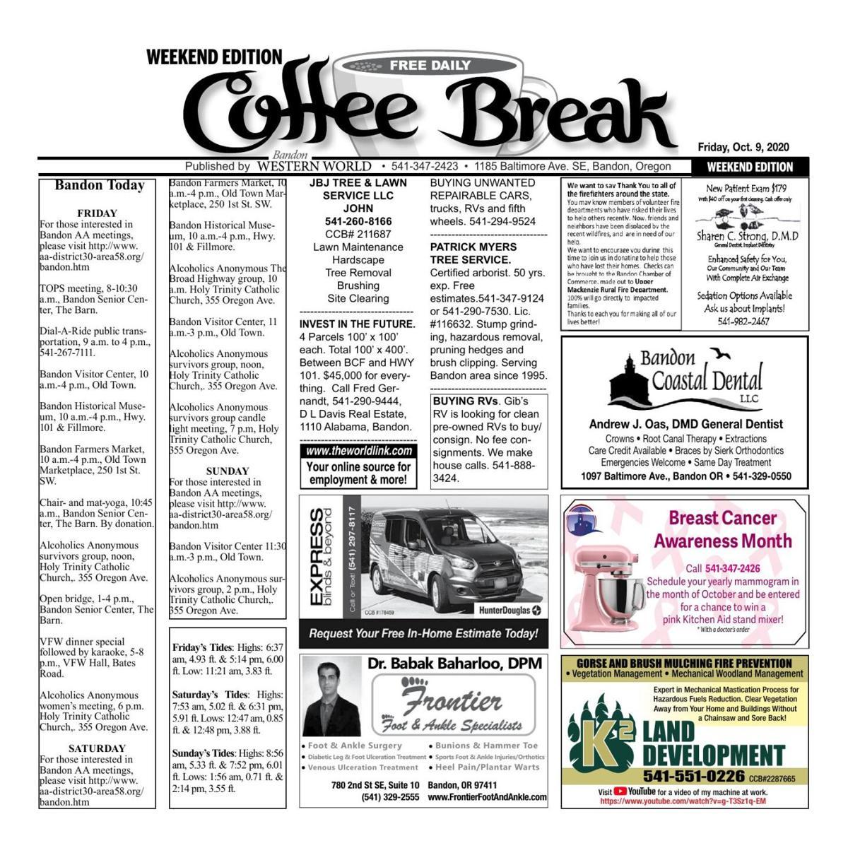 Oct. 9, 2020 Coffee Break