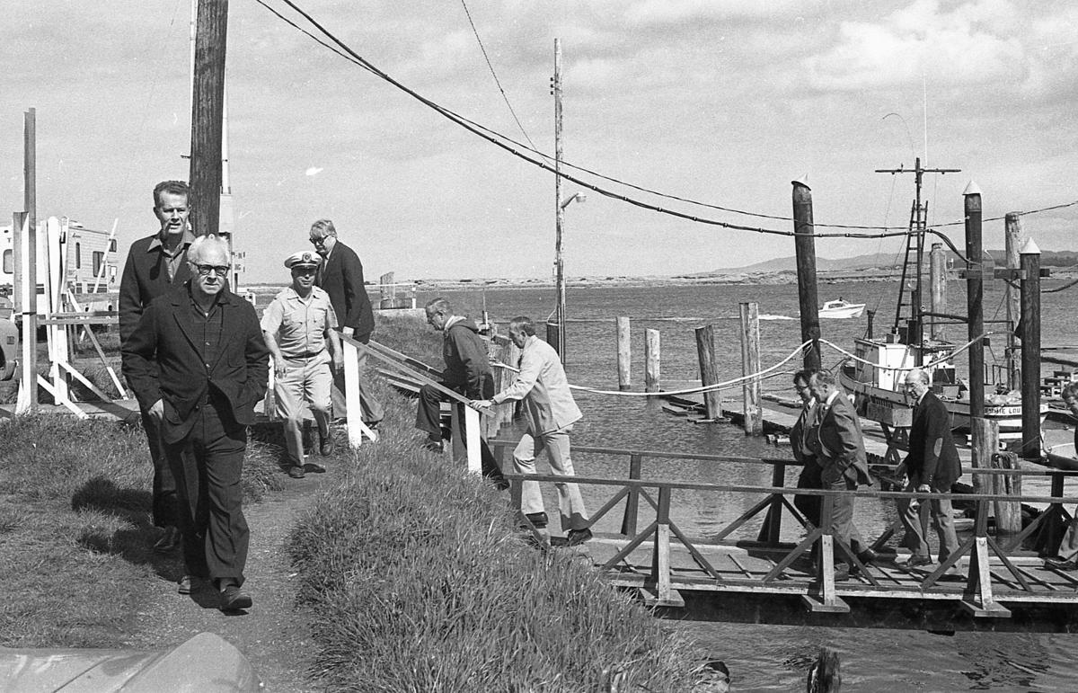 Gov. Vic Atiyeh visit, 1980s