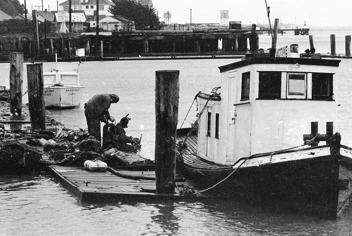 Boat out of the water, Dec. 73