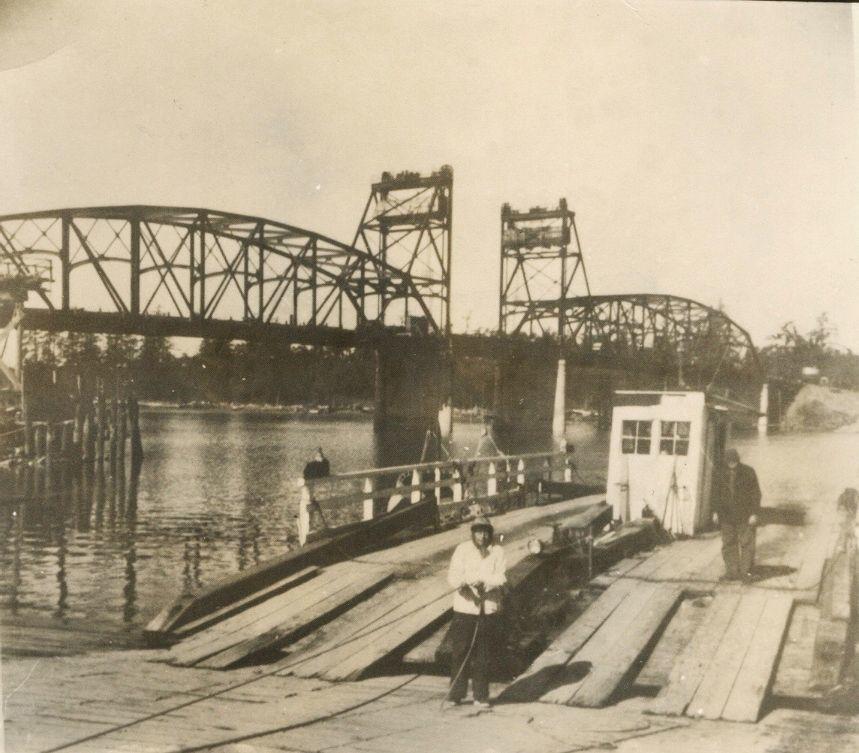 Bullards Bridge opening, 1954