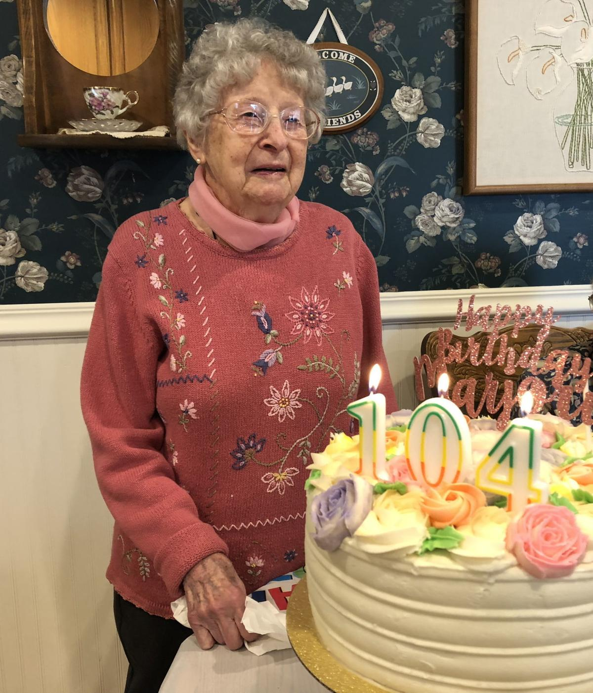 Marjorie Stephenson turns 104
