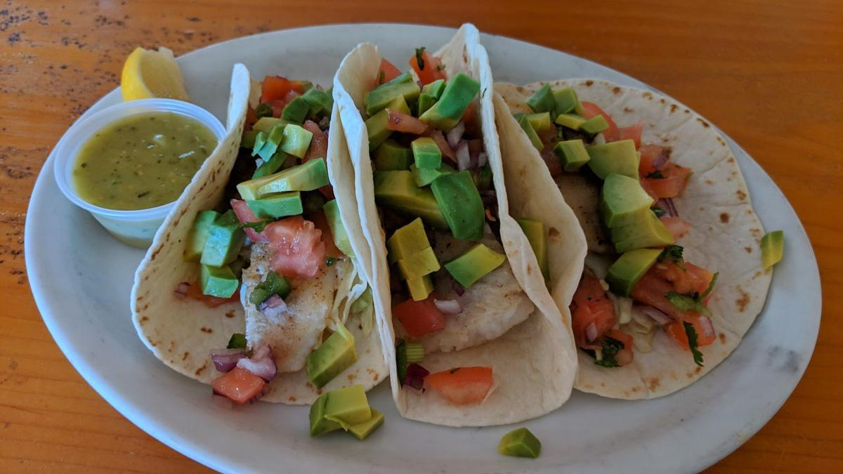 crabby fish tacos
