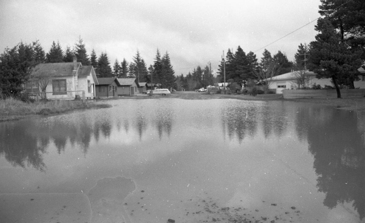 North Avenue following heavy rain in 1979