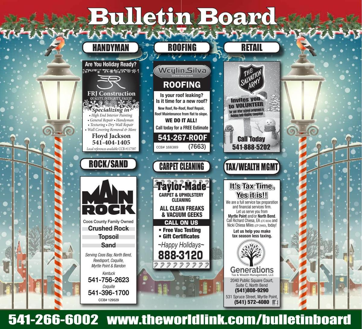 Bulletin Board Week Ending Dec. 9, 2017