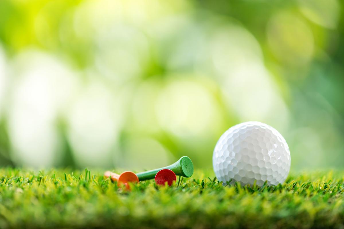 589415574 golf ball and tees
