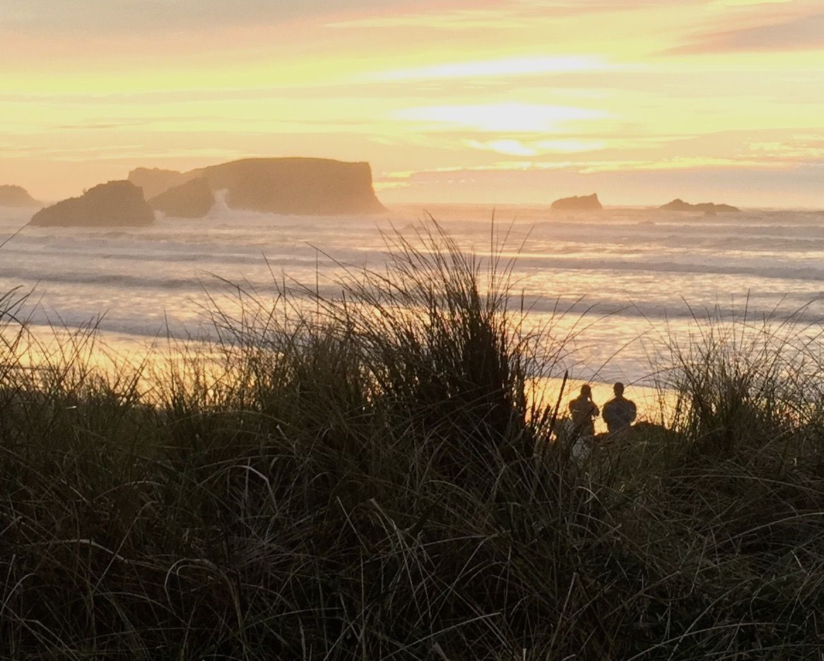 Sunset at the beach in Port Orford