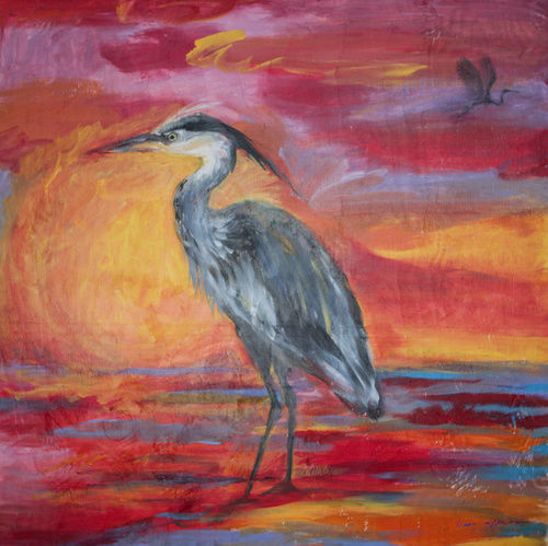 'Heron' by artist Vicki Affatati
