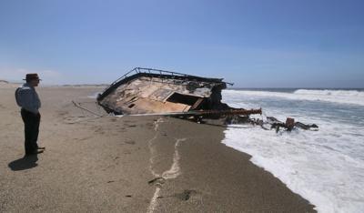 Shipwreck Ann Kathleen is accumulating sand, requiring excavation