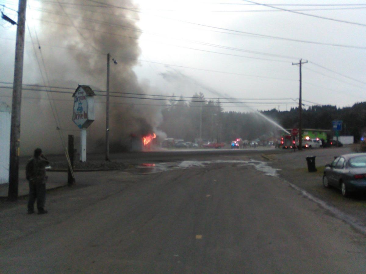 Winchester Bay fire