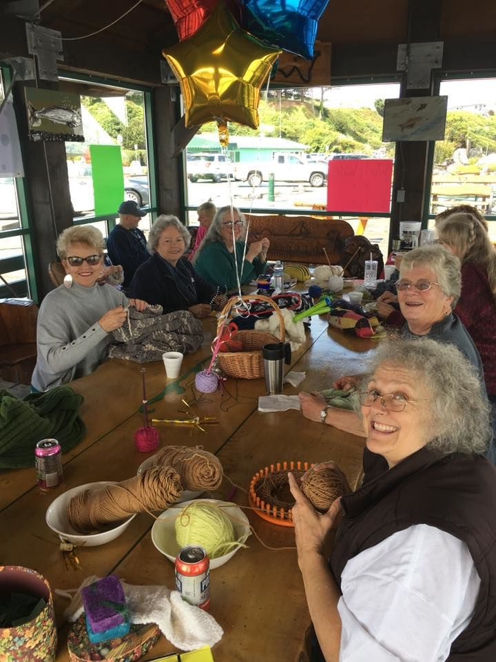 Knit in Public Day in Bandon 2018