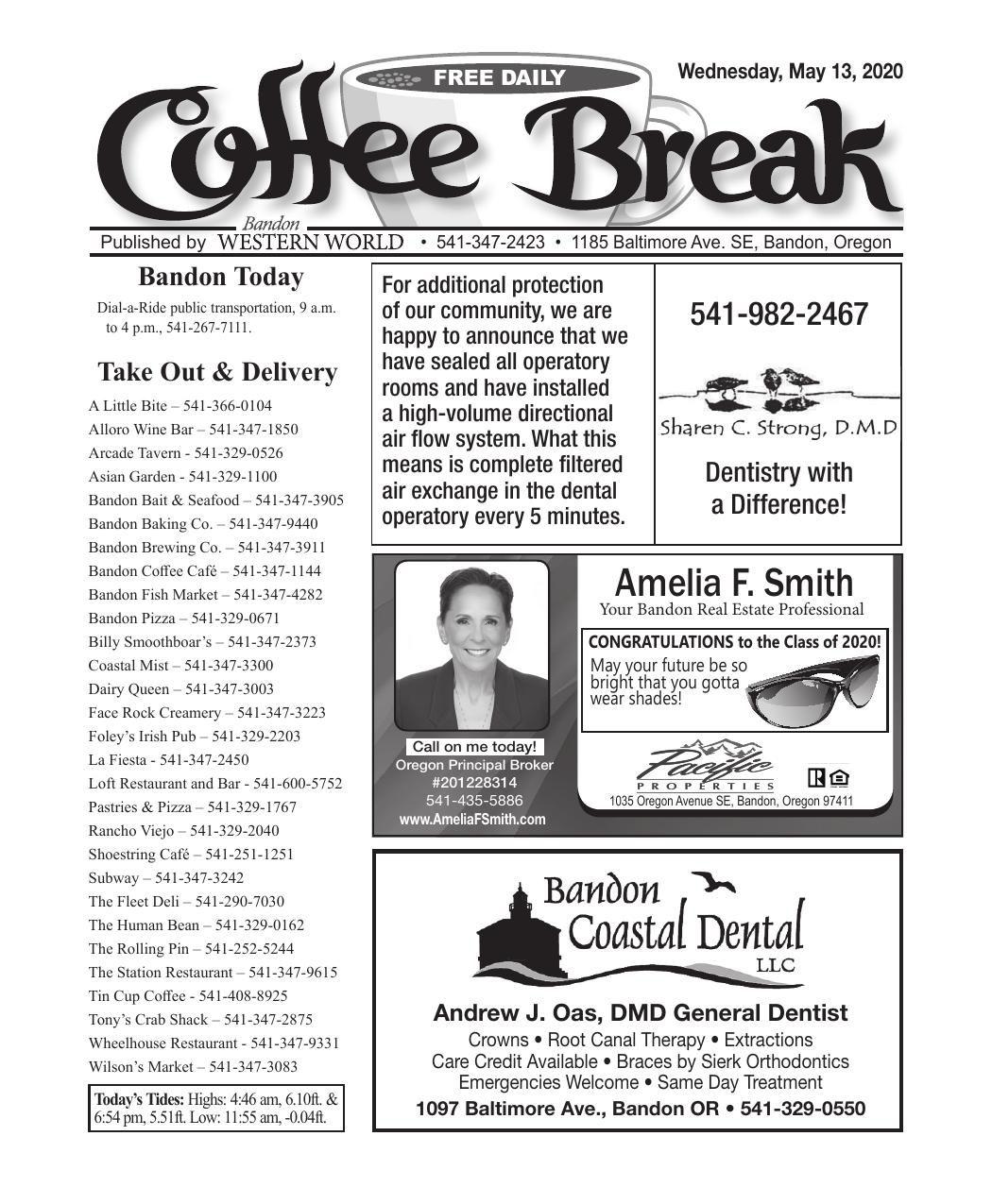 May 13, 2020 Coffee Break