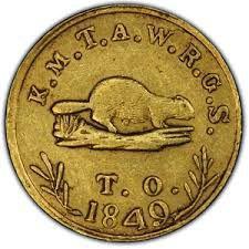 1849 Beaver Coin