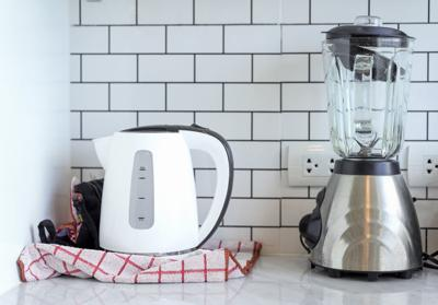 Electric stainless steel kettle and blender small appliance