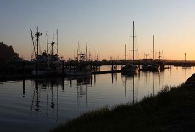 Salmon Harbor Marina sunset