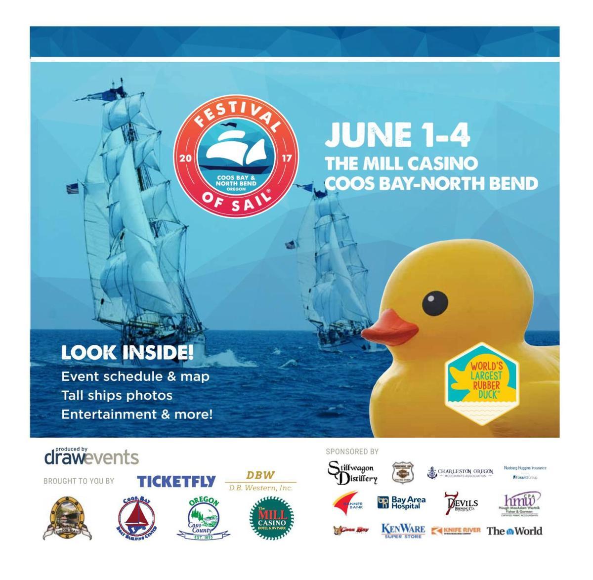 2017 Festival of Sails June 1-4 Coos Bay
