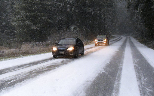 Rare white Christmas in Pacific Northwest causes car crashes