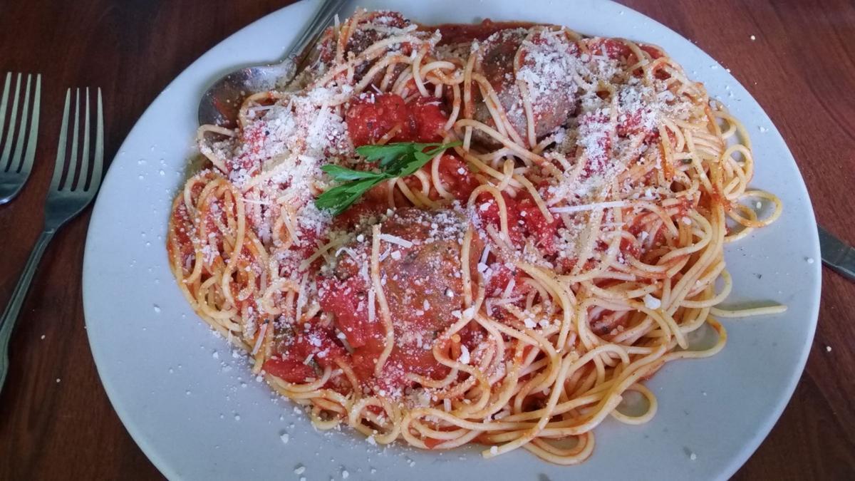 Little Italy spaghetti, meatballs