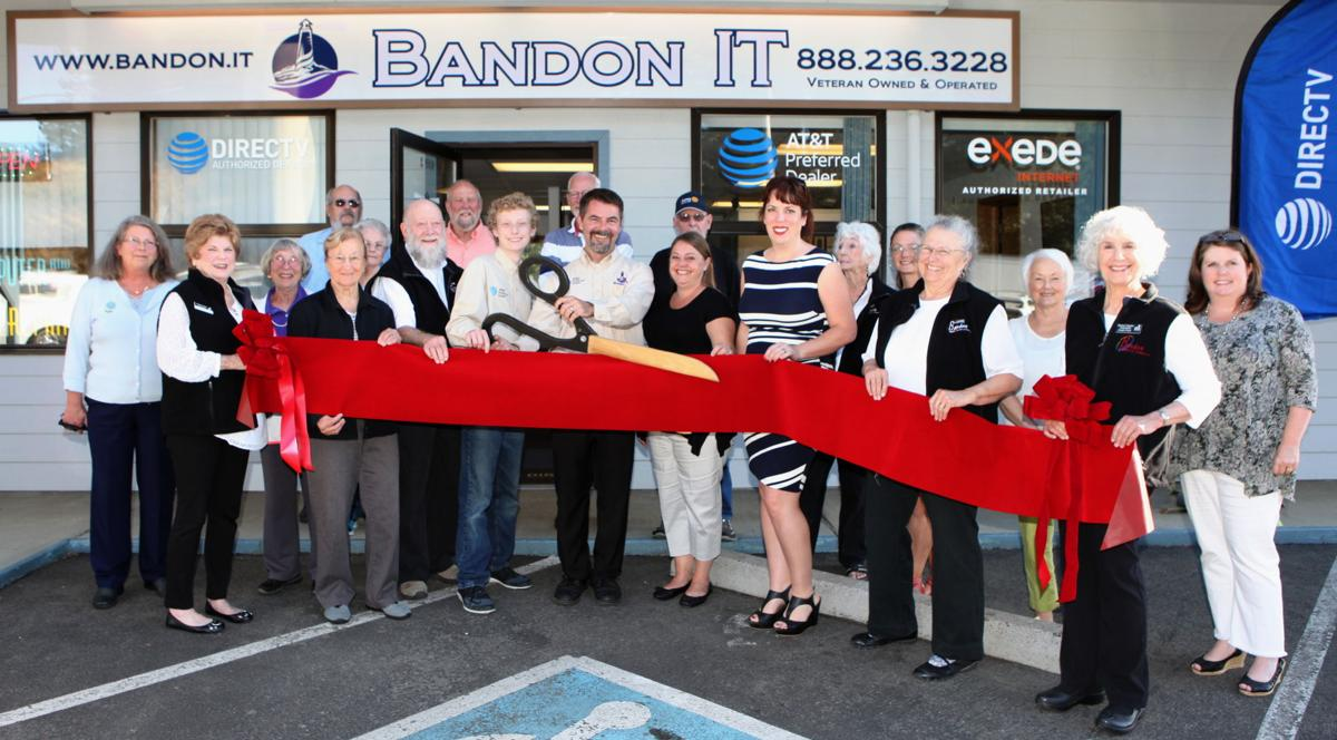 Chamber of Commerce ribbon cutting for Bandon IT