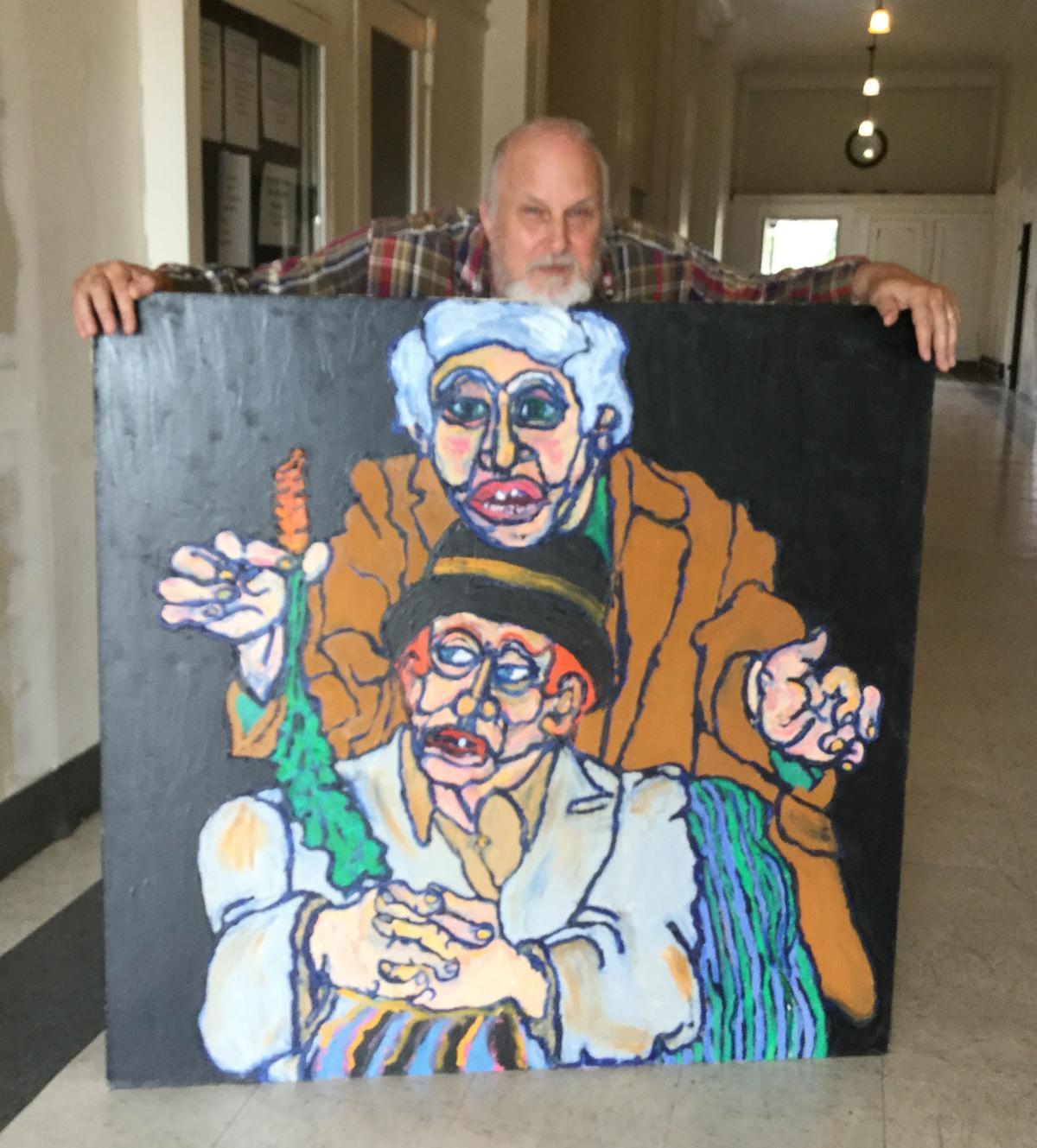 Fred Vasar shows Stan Fullerton's  human folly