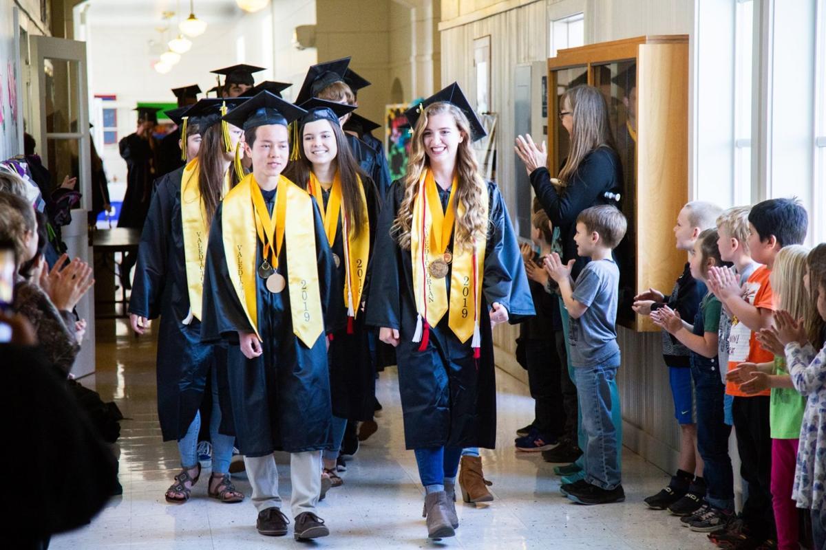 BHS Class of 2019 walks halls at Ocean Crest Elementary
