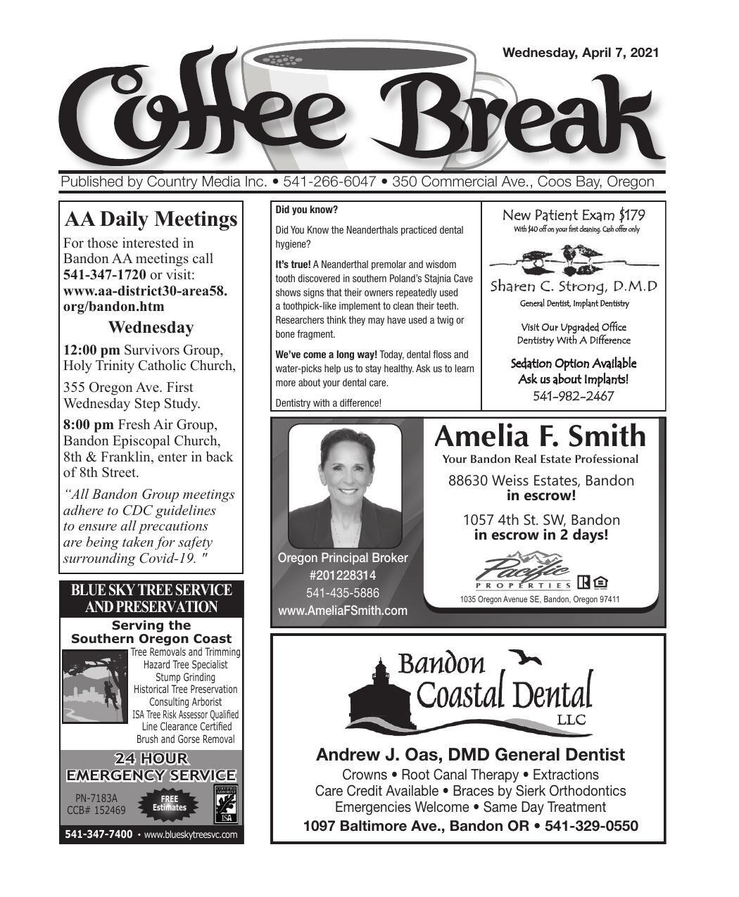 April 7, 2021 Coffee Break