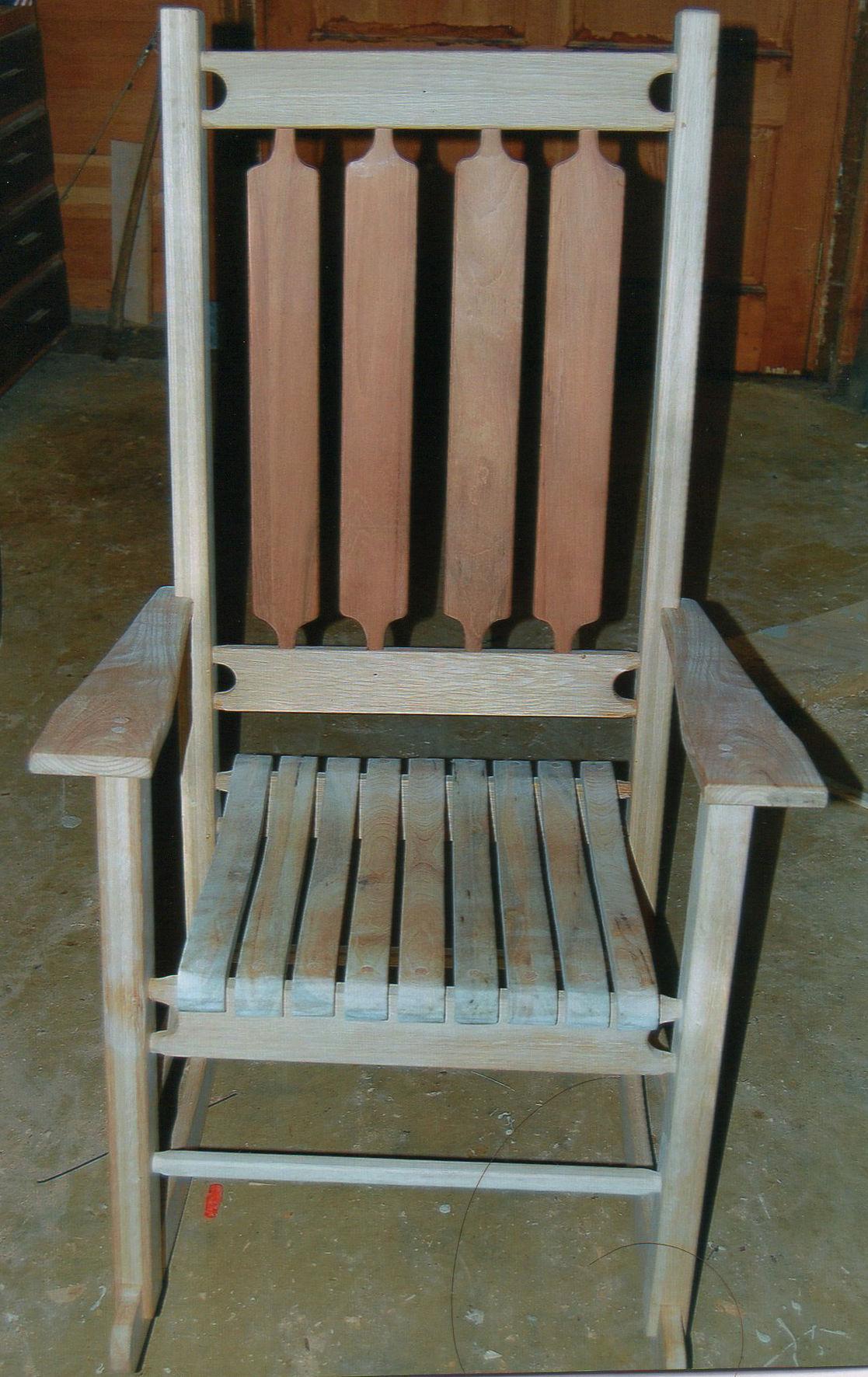 John Muenchrath wood rocking chair