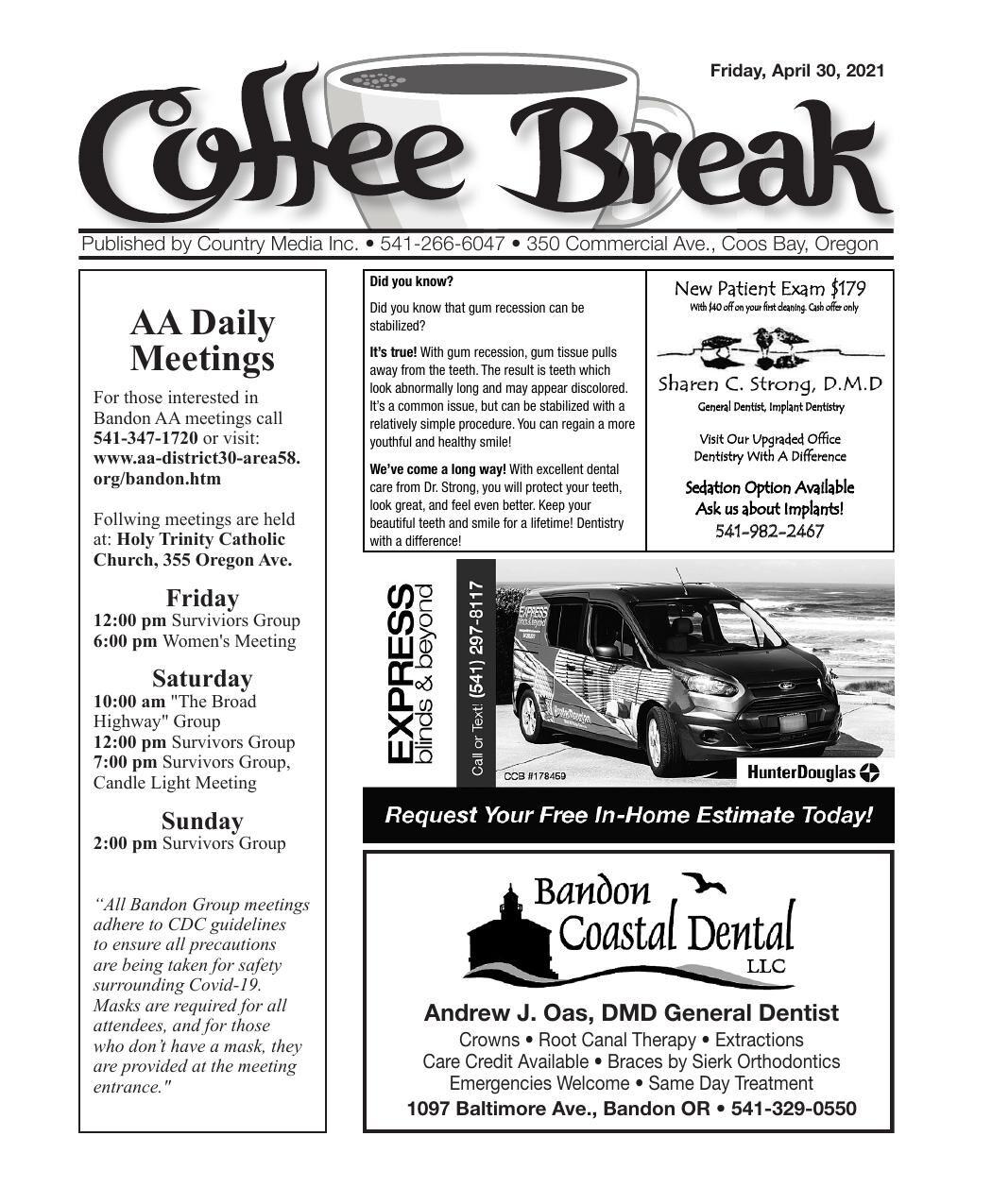 Coffee Break 04/30/21