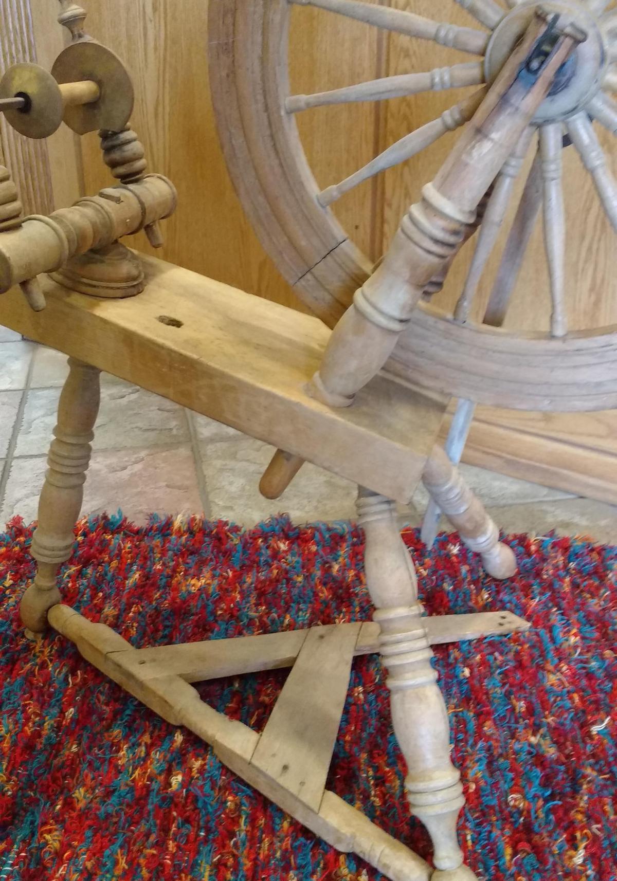 Kelly Oney's spinning wheel